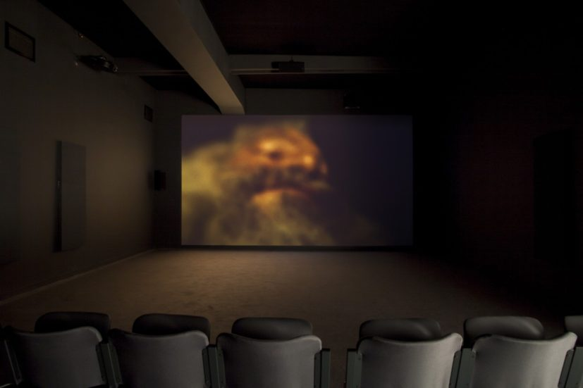 Véréna Paravel and Lucien Castaing-Taylor, somniloquies, 2017, digital video, installation view, Benaki Museum—Pireos Street Annexe, Athens, documenta 14, photo: Yiannis Hadjiaslanis