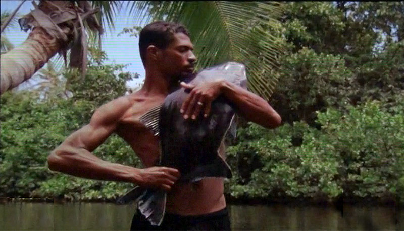 Jonathas de Andrade, O Peixe [The Fish], 2016. 16mm film transferred to 2K video, 37 minutes. © Still: Jonathas de Andrade. Repro: Binder & Haupt.