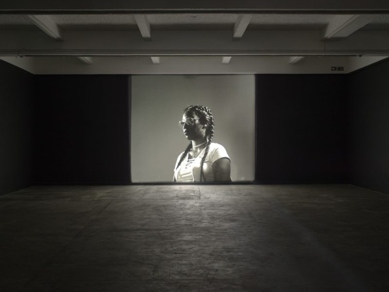 Luke Willis Thompson, autoportrait, (2017). Installation view, Chisenhale Gallery 2017. Commissioned by Chisenhale Gallery and produced in partnership with Create. Courtesy of the artist. Photo: Andy Keate.