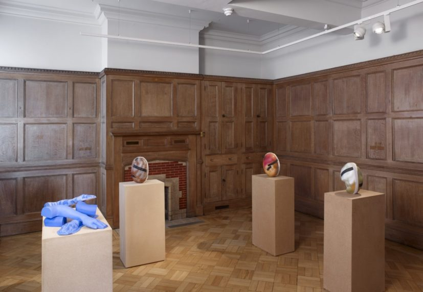 Installation shot of work by Jessie Flood-Paddock in Refinding: Jessie Flood-Paddock with Kenneth Armitage, at The Tetley, Leeds 2017. Courtesy private collection, Carl Freedman Gallery London and the artist. Photo: Michael Pollard.