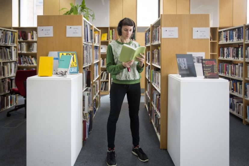 Ting-Ting Cheng, On the Desert Island (2017). Audio guide and site-specific installation at Iniva, Stuart Hall Library, London. Photo: George Torode.