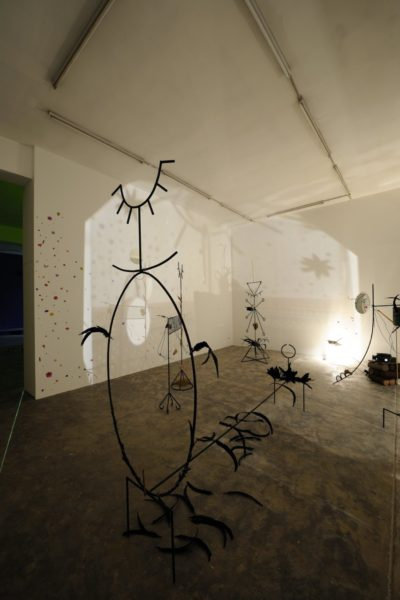 Installation view of Dineo Seshee Bopape, Sedibeng, it comes with the rain, 2016. Mixed media, variable dimensions. Courtesy of the artist and Sfeir-Semler Gallery Beirut/Hamburg