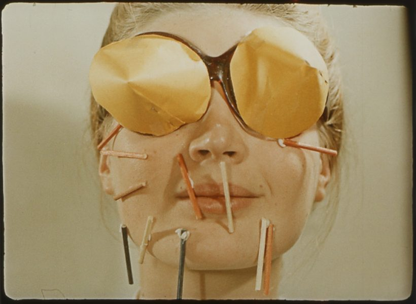 KwieKulik, Forma Otwarta -­ Gra na twarzy aktorki / Open Form -­ Game on an Actress's Face, 1972. Video, colour, silent, 2 min 29 sec. © Kontakt. The Art Collection of Erste Group and ERSTE Foundation