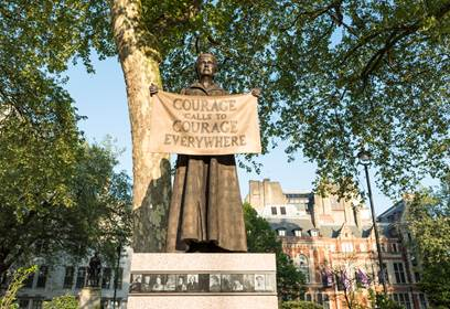 Gillian Wearing, Statue of Millicent Fawcett, 2018. Image courtesy of Kevin Percival