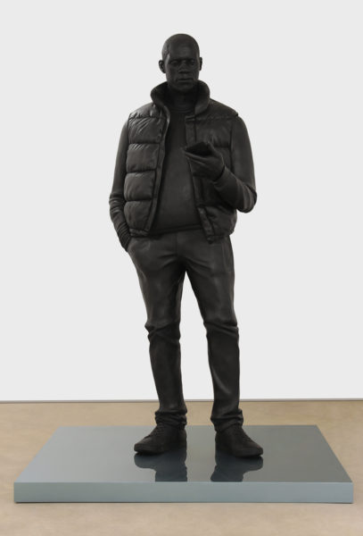 Thomas J Price, Network, 2013, bronze, 274.3 x 100 x 92.1 cm. Image courtesy of the Artist and Hales Gallery. Copyright the Artist.