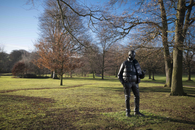 Thomas J Price, Network, 2013, installation view, Yorkshire Sculpture Park, photo Jonty Wilde. Image courtesy of the Artist and Hales Gallery. Copyright the Artist.