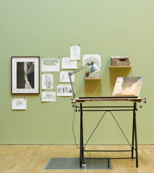 Installation view of Untitled (City Plan). Photograph by Jason Hynes, courtesy of Middlesbrough Institute of Modern Art.