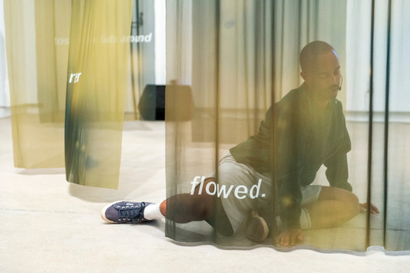 Paul Maheke, 'Seeking after the fully grown dancer *deep within*' as part of 'Habits of Care' at the Blackwood Gallery, Toronto. images: Henry Chan, 2017
