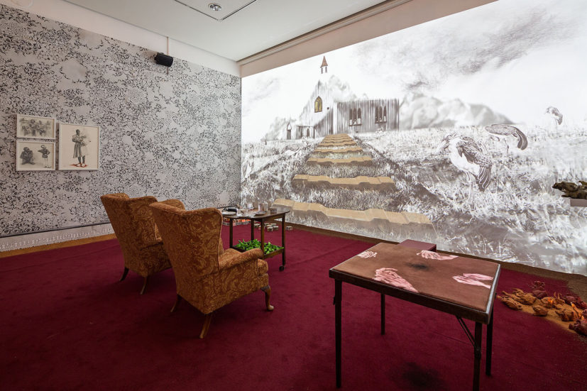 Phoebe Boswell, The Matter of Memory, 2014. Installation view. Hasselblad Center. Photo: Hendrik Zeitler
