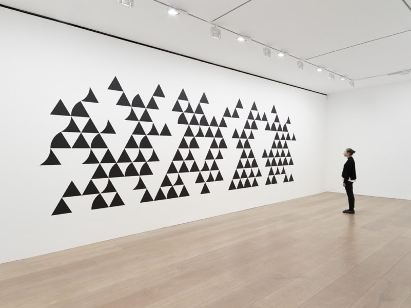 Bridget Riley, Quiver 3, 2014. Graphite and acrylic paint on plaster wall. © Bridget Riley 2017, all rights reserved. Courtesy David Zwirner, New York/London
