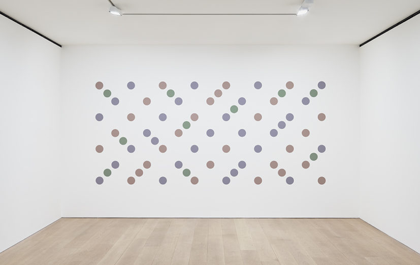 Bridget Riley, Untitled 2 (Measure for Measure), 2017. Graphite and acrylic on plaster wall. © Bridget Riley 2017, all rights reserved. Courtesy David Zwirner, New York/London