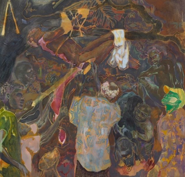Michael Armitage, The Flaying of Marsyas, 2017. © Michael Armitage. Photo © White Cube (Ben Westoby). Courtesy of the Artist and White Cube.