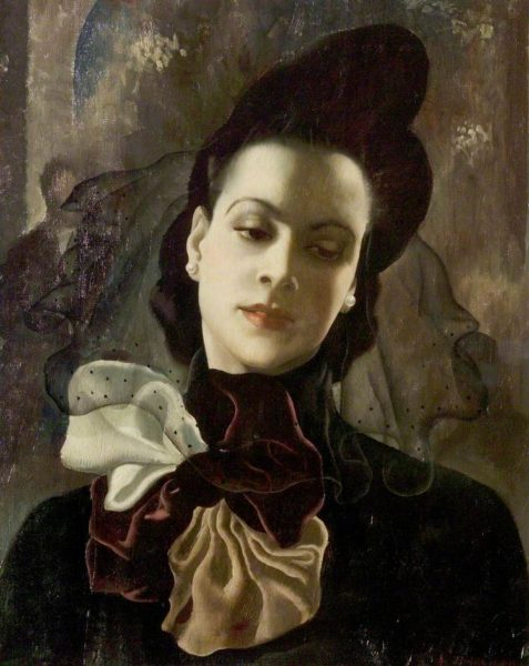 Anna Katrina Zinkeisen, The Dark Lady, 1938. © the artist's estate / Bridgeman Images. Photo credit: Nottingham City Museums and Galleries