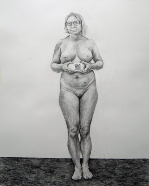 Phoebe Boswell, Me, You and Our Voice, 2017, pencil on paper, 150 x 120cm. Courtesy of the artist and Tiwani Contemporary