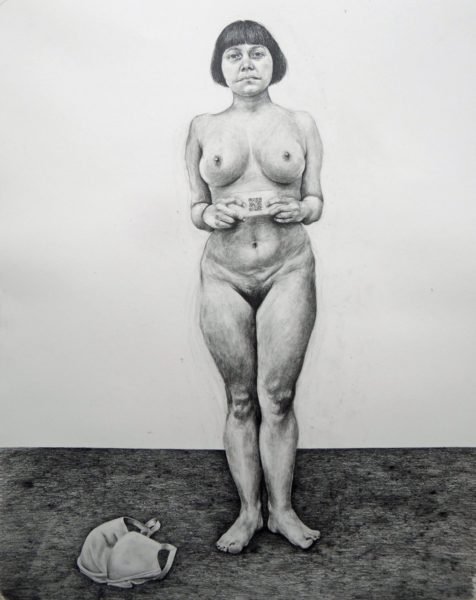 Phoebe Boswell, Mestizaje, 2017, pencil on paper, 150 x 120cm. Courtesy of the artist and Tiwani Contemporary
