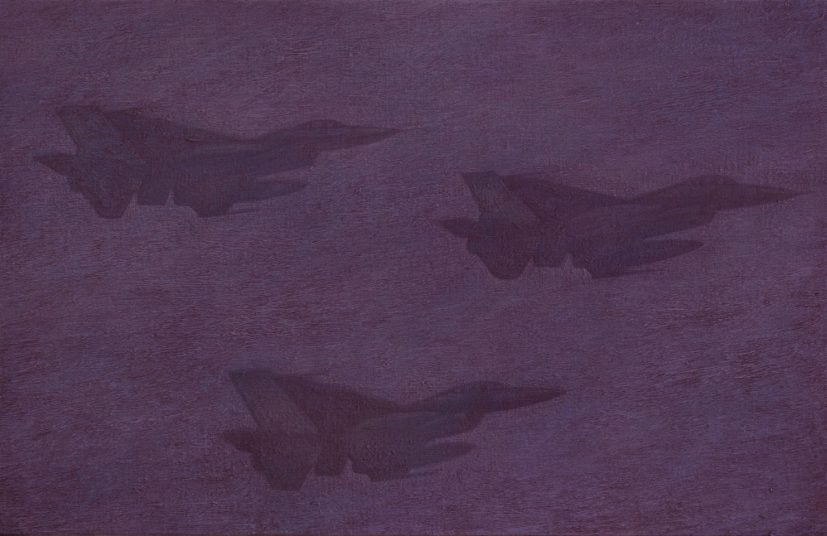 Robert Priseman, Jets, 2011, oil on linen -® the artist. Photo credit - Rugby Art Gallery and Museum Art Collections