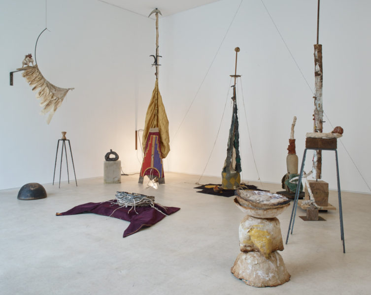 Fourthland with Rosalind Fowler, BREADROCK, installation view at PEER, Hoxton. Works by artists and objects belonging to Wenlock Barn residents. Photo by Stephen White