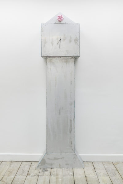 Simon Mathers Only Forward, 2018 Aluminium and epoxy resin 203 x 62 x 24 cm. Photo credits Damian Griffiths.