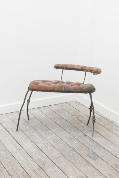 Ben Burgis and Ksenia Pedan Musk Chaise, 2017 Metal, Foam & painted fabric 74 x 28 x 62 cm. Photo credits Damian Griffiths.