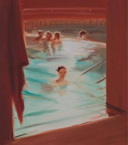Caroline Walker, Dandar Bathers, 2015. Oil on paper, 44 x 39.5 cm. Image courtesy the Artist and Project B Gallery, Milan