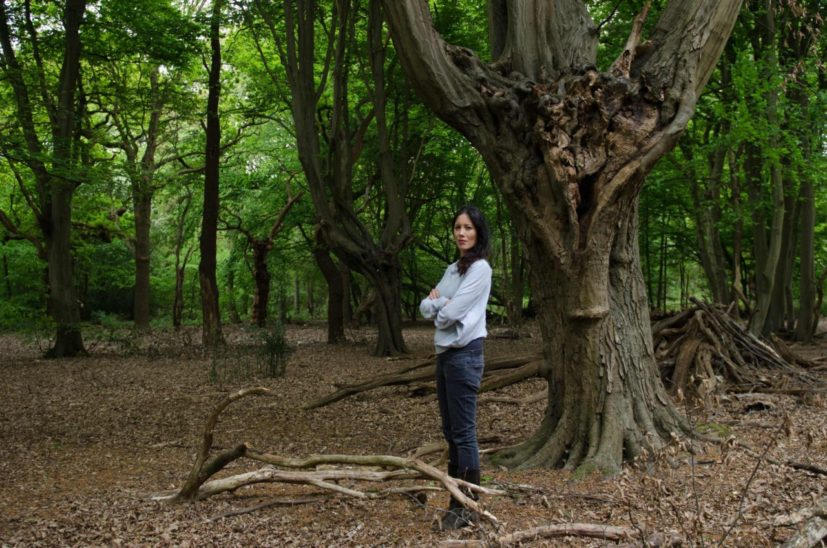 Portrait of Gayle Ching Kwan in Epping Forest for The Peoples Forest, by Parisa Taghizadeh, 2017
