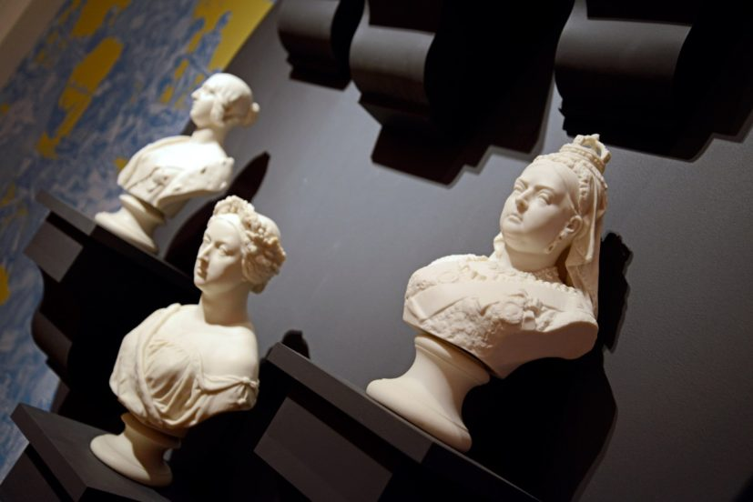 Installation view of Flux: Parian unpacked at The Fitzwilliam Museum, Cambridge