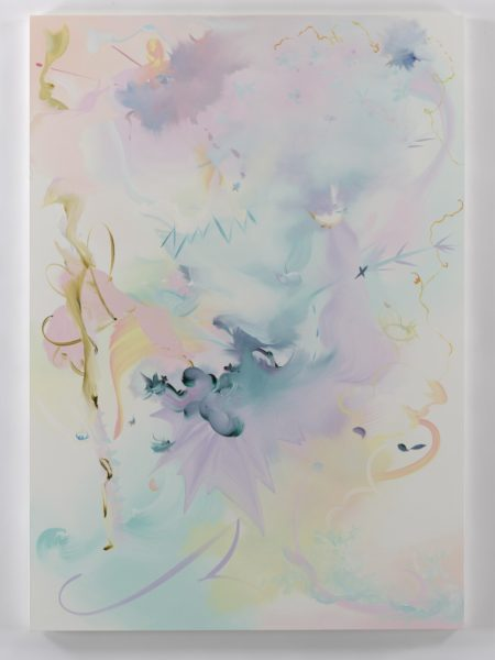 Fiona Rae, Sleeping Beauty will hum about mine ears, 2017. Oil on canvas 183 x 129.5 cm. © Fiona Rae. All Rights Reserved, DACS 2018 Courtesy the artist