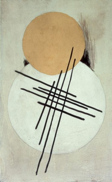 Liubov Popova, Non-Objective Composition, c.1920. Gouache, oil and india ink on cardboard, 45.6 x 28.3 cm. Courtesy Annely Juda Fine Art