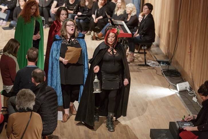 Melanie Manchot, The Choirs, Artist Residency with NWCD, 2018. Image courtesy of Tim Bowditch