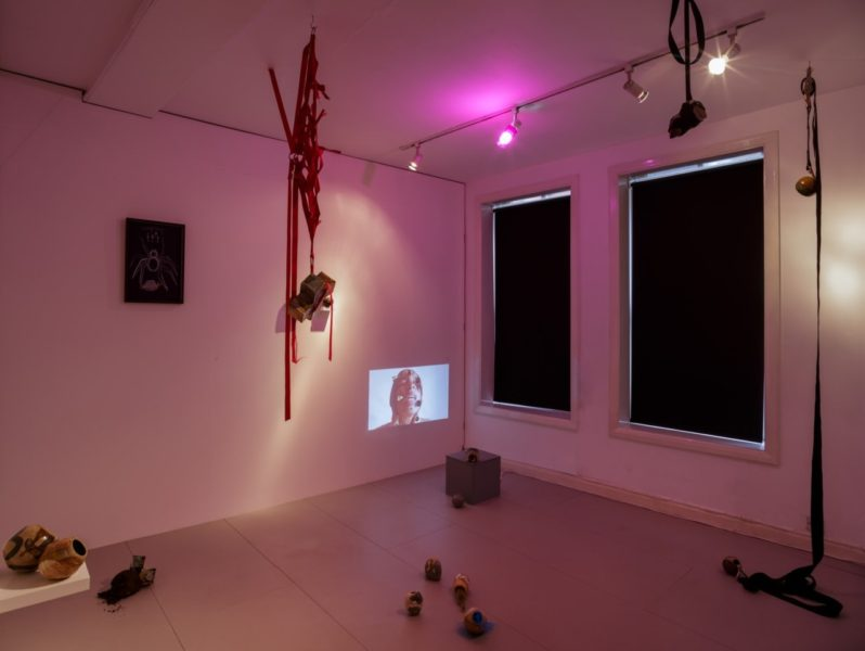 Phoebe Collings-James, Relative Strength, 2018. Installation view at Arcadia Missa, London. Courtesy the Artist and Arcadia Missa. Photo: Tim Bowditch