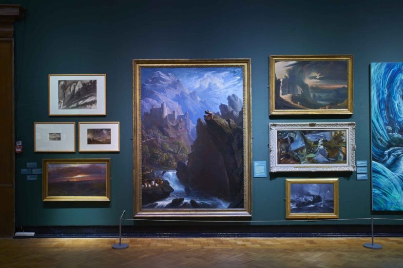 Installation view of 'Glenn Brown: Fantasy Landscapes, Portraits and Beasts' at the Laing Art Gallery. Photographer: Jack Cornish.