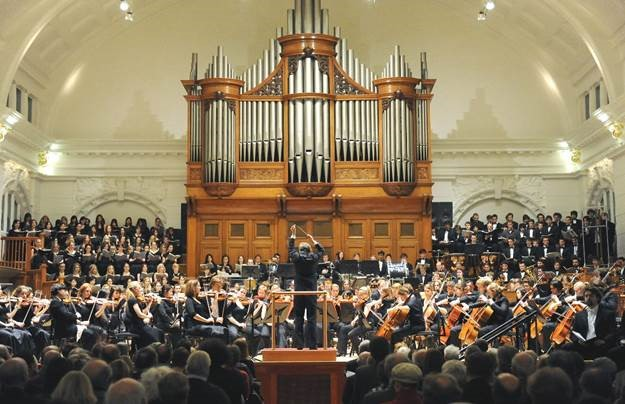War Requiem performance at the Royal College of Music. Photo by Chris Christodoulou