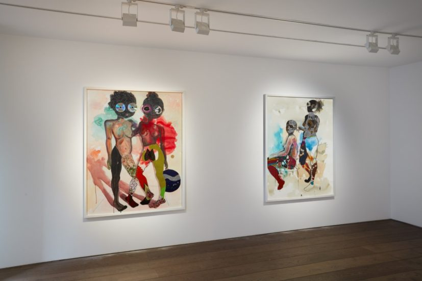 Installation view, Works on Paper. Courtesy of Rosenfeld Porcini