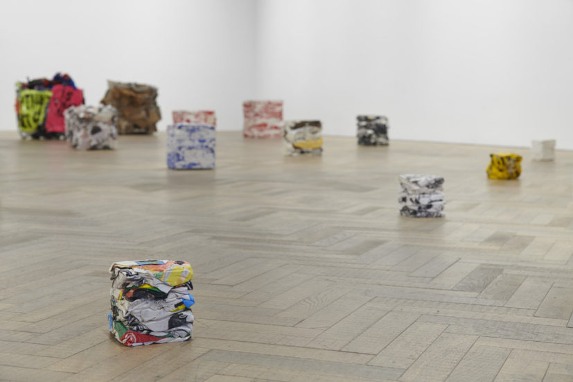 Installation view of Michael Landy: Scaled Down at Thomas Dane Gallery. Photographer: Ben Westoby