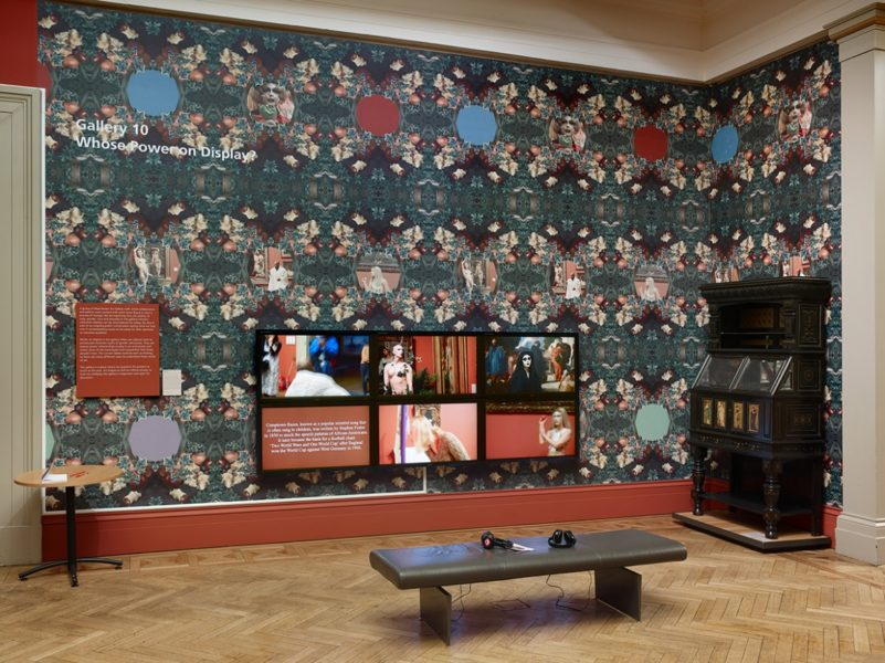 Sonia Boyce, Six Acts, 2018. Six-screen film and wallpaper installation, 15 min. Photography by Michael Pollard.