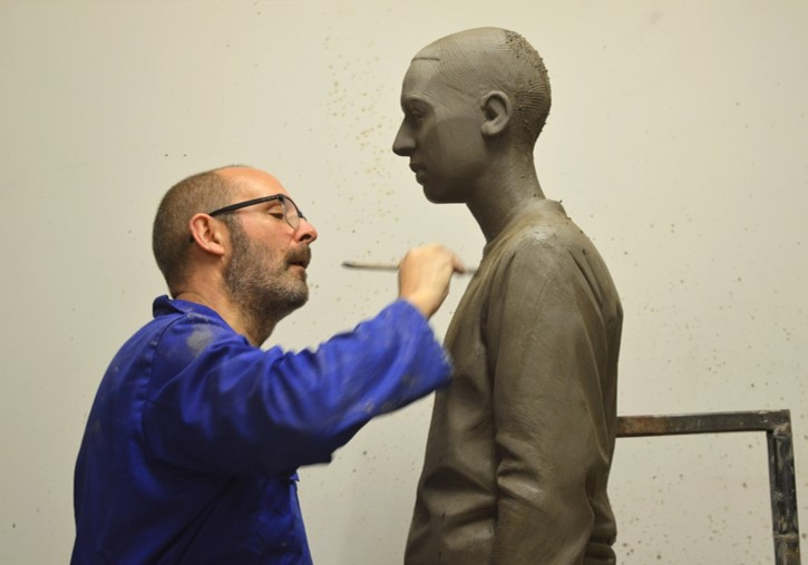 The making of the Southwark Memorial. Image courtesy of Kenny Hunter