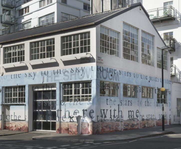 Pamela Phatsimo Sunstrum, Exalt B.H., 2018. Painted mural on exterior of The Showroom, London. Photo: Daniel Brooke. © Pamela Phatsimo Sunstrum. Courtesy the artist.