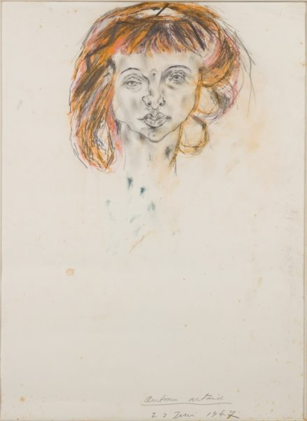 Antonin Artaud, Portrait de Lily Dubuffet, 1947. Chalk and coloured pencil on paper, 67 x 49 cm. Courtesy the Bibliotheque national de France and Cabinet, London