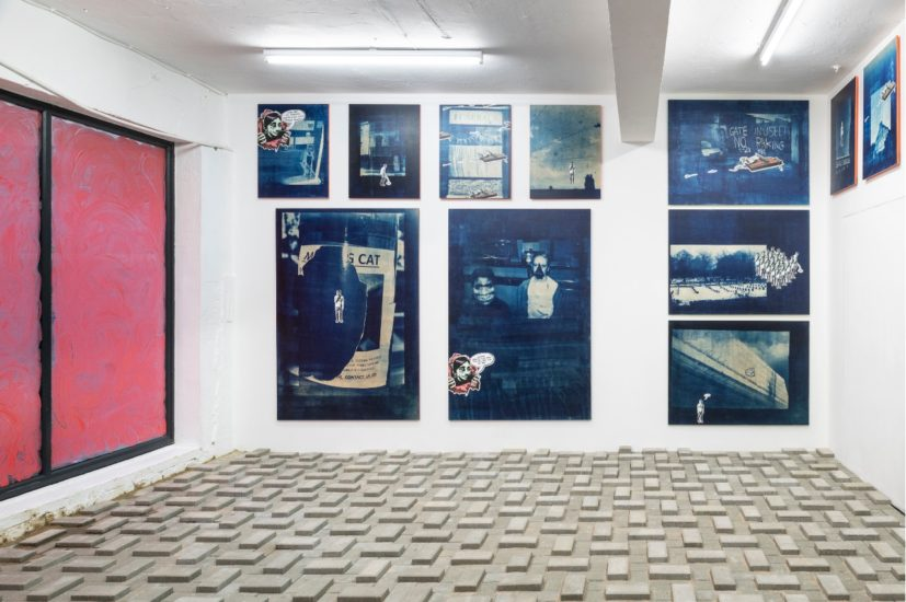 Installation view of 'Patrick Goddard: Real Estates' at Seventeen, London. Photo courtesy of Seventeen