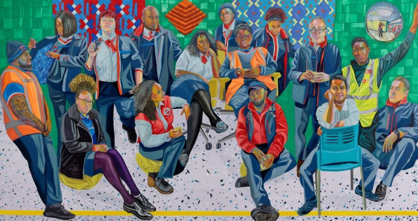 Aliza Nisenbaum, 'London Underground: Brixton and Victoria Line staff', 2019. Commissioned by Art on the Underground. Photo: Angus Mill