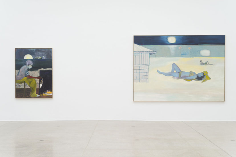Peter Doig, 'Painting on an Island (Carrera)', 2019; 'Nightbathers', 2019, installation view Secession 2019, photo: Hannes Böck, Courtesy the artist and Michael Werner Gallery, New York and London / Bildrecht Vienna, 2019