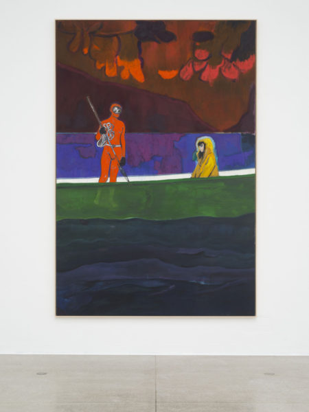 Peter Doig, 'Spearfisher (Red Moon)', 2019, installation view Secession 2019, photo: Hannes Böck, Courtesy the artist and Michael Werner Gallery, New York and London / Bildrecht Vienna, 2019