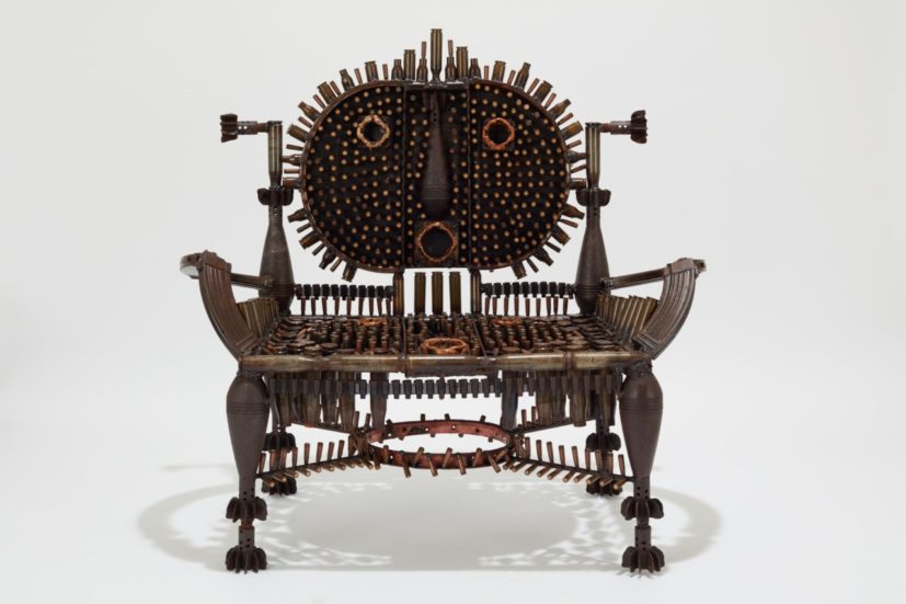 Gonçalo Mabunda, The Rooted Throne, 2019. Courtesy of Jack Bell Gallery