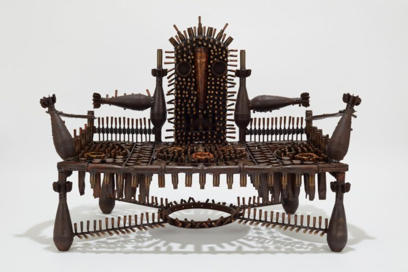 Gonçalo Mabunda, The Impenetrable Throne, 2019. Courtesy of Jack Bell Gallery