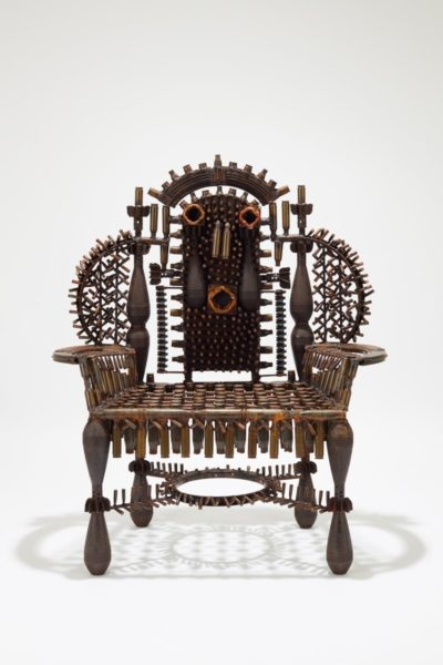 Gonçalo Mabunda, The Throne of Languages, 2019. Courtesy of Jack Bell Gallery