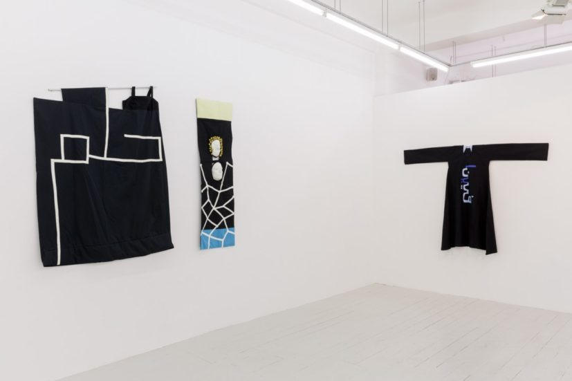 Installation view of 'Susan Hefuna: Textiles' at Pi Artworks, London. Courtesy of Pi Artworks London