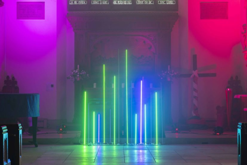 Cory Arcangel and Hampus Lindwall, 'They told me there would be tea' (2019) at St. Mary's Church Walthamstow commissioned for Art Night 2019. Part of LBoC 2019 programme in Waltham Forest