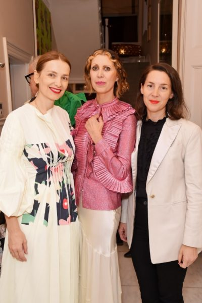 Roksanda Ilinčić, Designer, Valeria Napoleone and Victoria Siddall, Director of Frieze. Photographer: Lucy Stewart