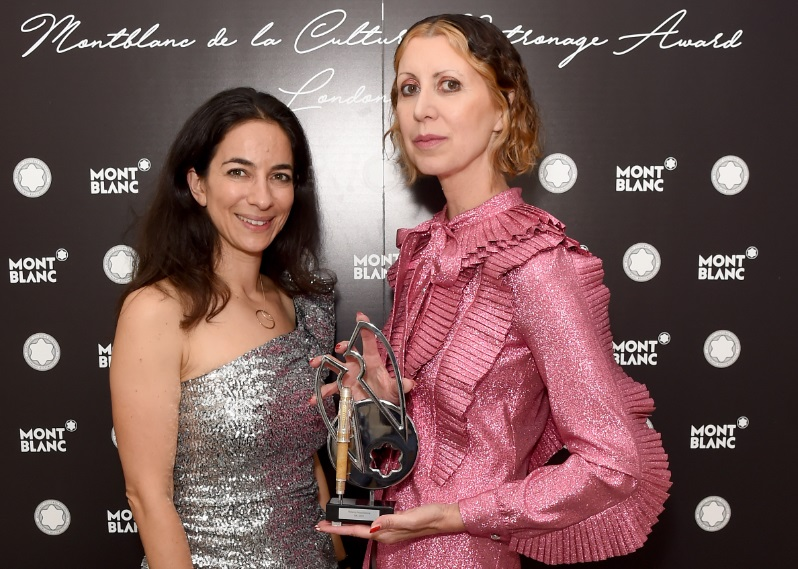Lynn Saferty, MD of Montblanc UK, with Valeria Napoleone. Photographer: Lucy Stewart