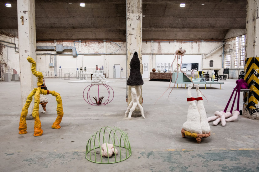 British Ceramics Biennial 2019 in the China Hall of the original Spode factory, Stoke-on-Trent, photo Jenny Harper